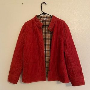 Vintage Red Quilted Chore Jacket